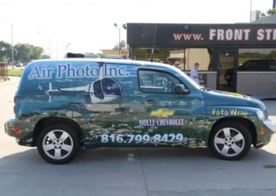 Passenger side of car wrap for Air Photo Inc.